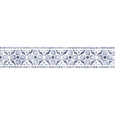 """Flower Chain"" border stencils ,$20 -- Royal Design Studio -- quatrefoil design"