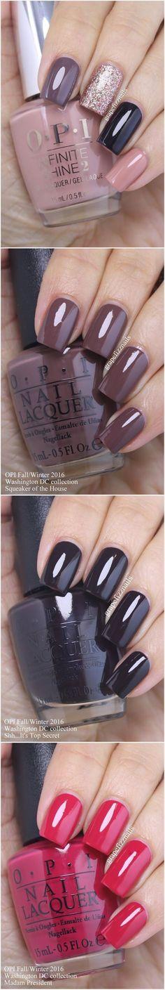 Inspiração para unhas: Unhas maravilhosas com esmalte OPIS. #esmaltes #nails #OPIS #unhasperfeitas #Unhasquadradas