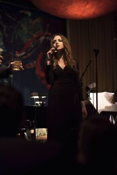 Liz Gillies performing at Vibrator Grill & Jazz