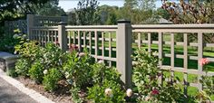 Love the look of this fence. Maybe for the side yard?