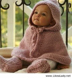 A really cute baby and outfit. need to find the pattern for this.