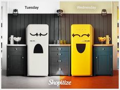 Make your Fridge happy every Wednesday! 😋 Download our App or register at shopitize.com/signup and feed your Fridge! New grocery offers every Wednesday 👌 Happy Shopping, Wednesday, Locker Storage, Make It Yourself, Cabinet, Furniture, Home Decor, Clothes Stand, Decoration Home