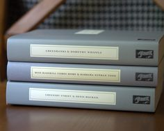 I absolutely love the design of Persephone Books. Simple and beautiful!