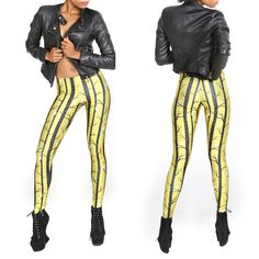How sexy do these stripes look??? #leggings #nebelkind