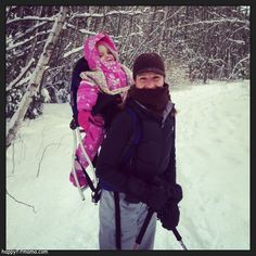 snowshoeing with toddlers - happyfitmama.com