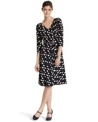 Geo Print Faux Wrap Dress - White House | Black Market