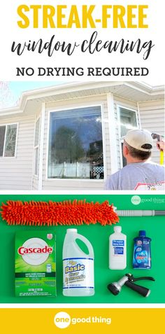 This homemade window cleaner not only gets your windows squeaky clean, there's no squeegeeing or drying required! Just spray; wash; spray again and sit back and let Mother Nature take care of the rest!