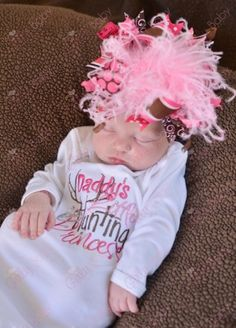 Daddy's Little Hunting Princess Newborn Gown. Not so crazy about the head band .