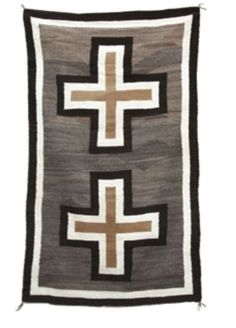 Beautiful Natural Dyed Double Cross Navajo Weaving