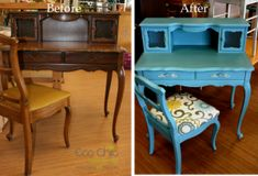 repurposed furniture before and after | Loretta's before and after from Eco Chic
