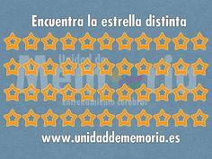 UNIDAD DE MEMORIA ENTRENAMIENTO CEREBRAL: Encuentra el distinto