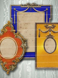 Faberge Photo Frames Number 1 Decoupage by memoriesemporium, $4.40