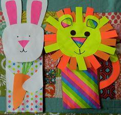 Cute Paper Sack Puppet Crafts