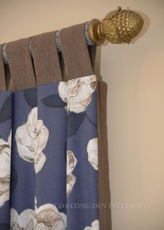 Tab top drapery panels from Decorating Den Int. Decor, Drapery Panels, Drapery, Curtains, Interior, Paneling, Home Decor