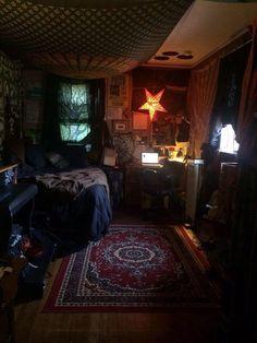 Room Design Bedroom, Room Ideas Bedroom, Bedroom Decor, Bedroom Inspo, Chill Room, Cozy Room, Dream Rooms, Dream Bedroom, Punk Room
