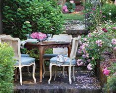 Southern Ladies, Garden Oasis, Decks And Porches, Outdoor Furniture Sets, Outdoor Decor, The Great Outdoors, Mother Nature, Tablescapes, Blossoms