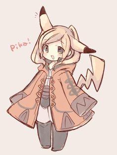 Female Robin as a Pikachu~ <3