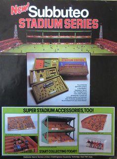A vintage 1970's Subbuteo Stadium Series leaflet.