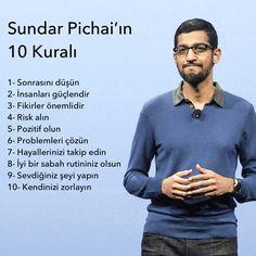 Sundar Pichai'ın 10 Kuralı #başarı #success #google #motivasyon