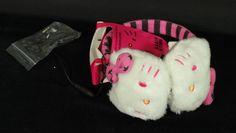 Sanrio Hello Kitty Earmuff Headphones White with Pink Stripes & Stars NEW in Consumer Electronics, Portable Audio & Headphones, Headphones | eBay
