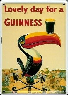 Guinness Toucan Home Bar Small Vintage Metal Tin Pub Sign Pub Signs, Beer Signs, Vintage Tins, Vintage Metal, Creature Picture, Home Bar Accessories, Guinness World, Old Ads, Cool Posters
