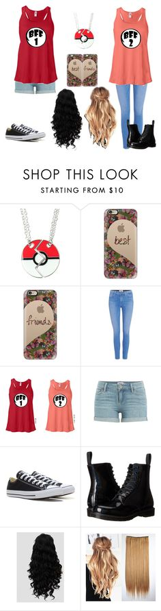 """""""Best Friends"""" by an-internet-girl ❤ liked on Polyvore featuring Casetify, Paige Denim, Converse and Dr. Martens"""