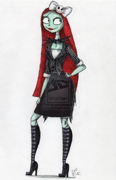 Goth Sally (Nightmare Before Christmas) Tim Burton Art, Tim Burton Films, Sally Nightmare Before Christmas, Jack Und Sally, Image Halloween, Sally Skellington, Jack The Pumpkin King, Johny Depp, Corpse Bride