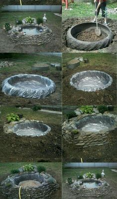 Discover thousands of images about diy water feature, amazing backyard fountains, backyard water feature ideas, DIY backyard water fountain, decorative water fountains Ideas Backyard Water Fountains, Ponds Backyard, Backyard Landscaping, Diy Landscaping Ideas, Diy Backyard Ideas, Diy Garden Fountains, Outdoor Ponds, Fountain Garden, Outdoor Fountains