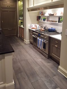 Exquisite Surfaces Manoir Gray chosen for 2015 Lake Forest Showhouse kitchen.