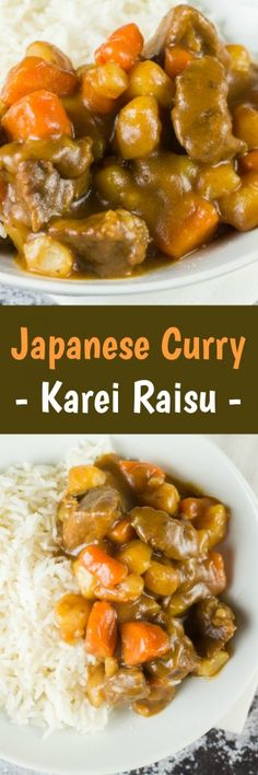 Delicious homemade Japanese Curry (Karei Raisu) using beef, onions, potatoes, carrots and curry sauce mix.