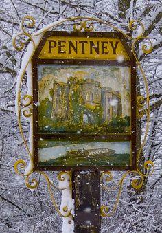 Village sign, Pentney, Norfolk