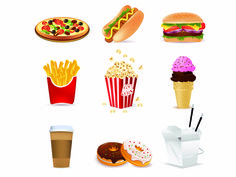 free vector Fast food cartoon vector available for FREE DOWNLOAD at 4vector.com