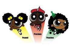 Afro Puff Girls! lol