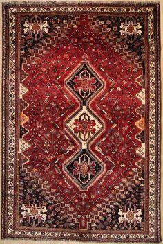 Orientteppich antik  Qashqai Handgeknüpft PerserTeppich Rugs 240 x 170 cm tappeto ...