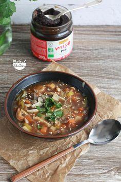 Sopa de miso com cogumelos