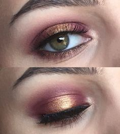 Cranberry and Gold halo eyes using Colourpop Super Shock Shadows in Central Perk, Drift, and KathleenLights