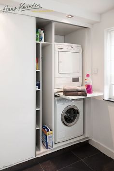 Clever Storage Ideas for Your Tiny Laundry Room. Wall Storage for Laundry Suppli… Clever Storage Ideas for Your Tiny Laundry Room. Wall Storage for Laundry [. Laundry Cupboard, Laundry Closet, Laundry Room Organization, Laundry Storage, Cupboard Storage, Wall Storage, Closet Storage, Bathroom Storage, Storage Baskets