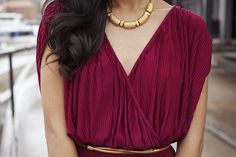burgundy + gold