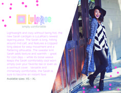 LuLaRoe Sarah cardigan.   Comfortable without being stuffy.  Available in sizes xs - xl