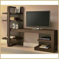 Ideaz International Artesano TV Stand for TVs up to 42 Tv Cabinet Design, Tv Wall Design, Bed Design, Tv Unit Furniture Design, Tv Furniture, Living Room Furniture, Tv Unit Decor, Tv Wall Decor, Tv Wanddekor
