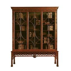 Irish Chinese Chippendale Cabinet from Baker