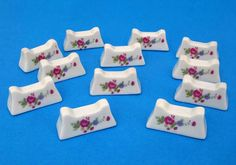 12 french porcelain knife rests  very pretty by LittleFrenchOwl, €18.00