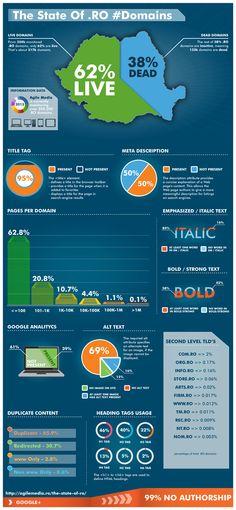 Primul Infografic in care prezentam The State of .RO #Domains