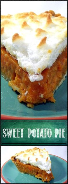 Sweet Potato Pie... Fun to Say, Delicious to Eat.... YEE HAA, this is FANTASTIC…