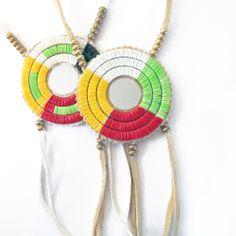 Medicine Wheel Quill Medallion by Lonna Jackson (Spirit Lake Dakota / Turtle Mountain Chippewa).