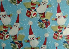 Vintage Christmas wrapping paper.