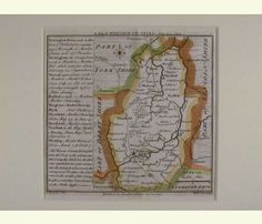 A Map of NottinghamShire North from London. 1742