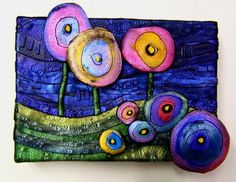 a Mused Studio: Polymer Clay on Stretched Canvas- May Storm