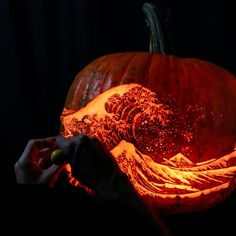 The art of pumpkin carving – in pictures   Art and design   The Guardian Pumpkin Carving Tools, Carving Pumpkins, Halloween Pumpkins, Halloween Diy, Art Nouveau Furniture, The Guardian, Crafts, Pictures, Design