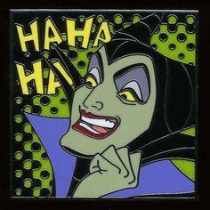 Maleficent- such a great pin! Sleeping Beauty 1959, Disney Sleeping Beauty, Disney Pop Art, Disney Love, Evil Disney, Malificent, Disney Merchandise, Cute Comics, Disney Pins